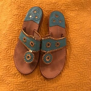 Turquoise and Gold Jack Rogers